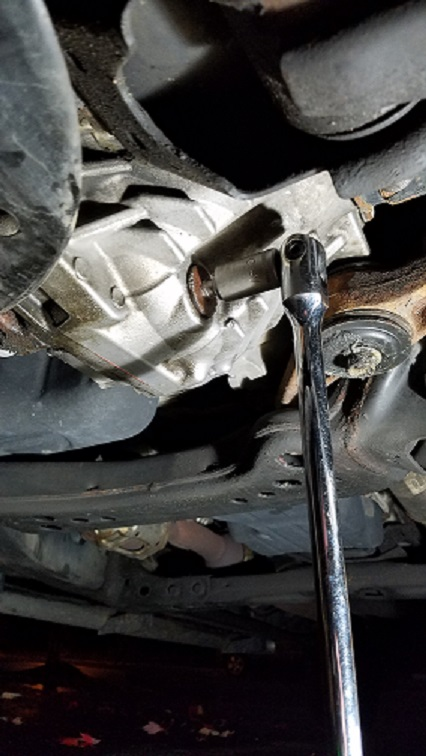 Rounded out the front differential drain plug | Toyota Tundra Forums