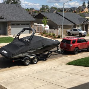 2015 Runner pulling the Yamaha
